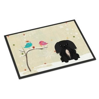 Carolines Treasures BB2579MAT Christmas Presents Between Friends Pekingnese Black Indoor or Outdoor Mat 18 x 0.25 x 27 in.