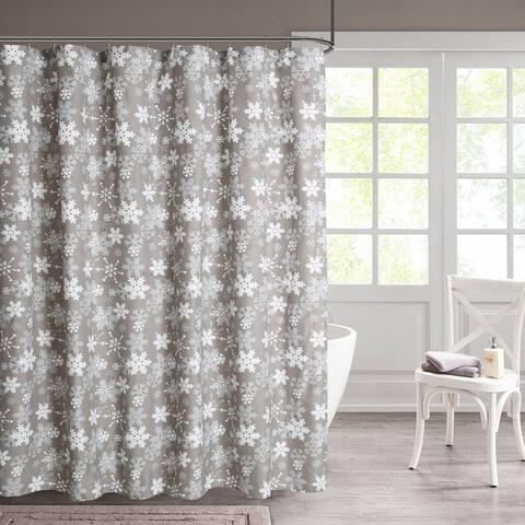 Snowflakes 13-piece Shower Curtain Set