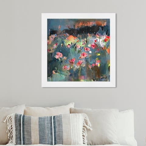 Oliver Gal 'Michaela Nessim - Subtle radiance' Abstract Wall Art Framed Print Paint - Gray, Pink