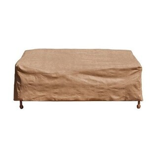 """Budge P3W06SF1-N Large Loveseat Cover, Sand, 38"""" x 58"""" x 35"""""""