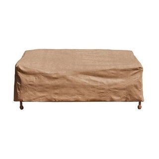"Budge P3W06SF1-N Large Loveseat Cover, Sand, 38"" x 58"" x 35"""