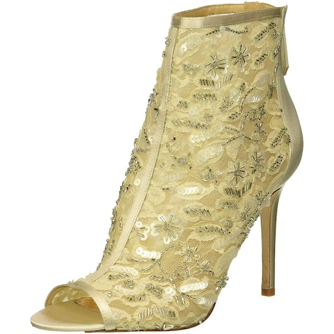 BADGLEY MISCHKA Womens Verona Open Toe Ankle Fashion Boots
