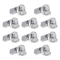"""Globe Electric 90542 4"""" Recessed Lighting Kit Combo 10 Pack"""