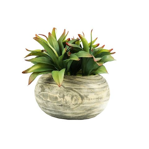 MODA MDW-1027-663B wood pot decoration - 10.63*10.63*10.63