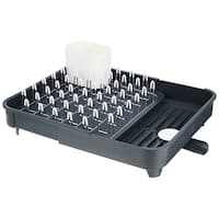 Joseph Joseph Extend Expandable Dish Drying Rack and Drainboard Set, Gray