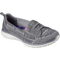 Skechers Women's Microburst Topnotch Walking Slip-On Gray
