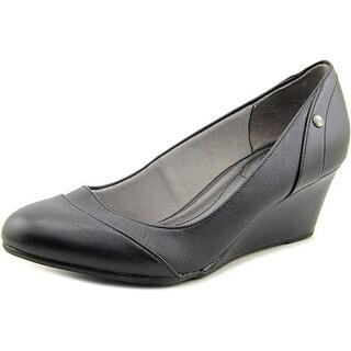 Life Stride Dreams Women Open Toe Synthetic Black Wedge Heel