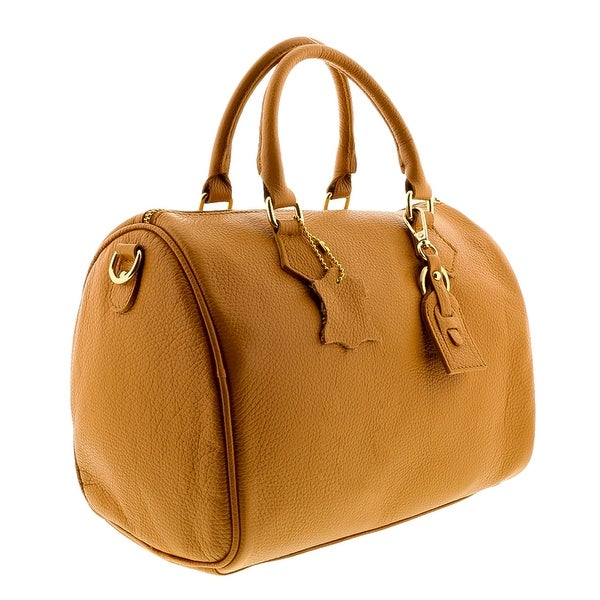 HS5176 CU LUNA Tan Leather Satchel/Top Handle Bag - 12-10-4.5