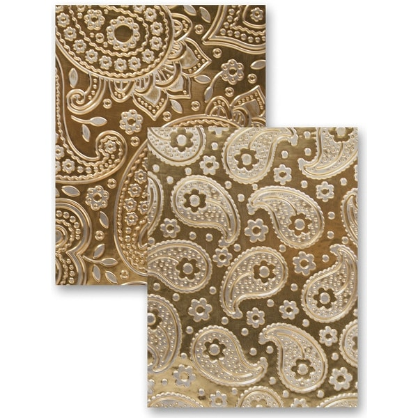 Spellbinders M-Bossabilities A5 Card Embossing Folder-Paisley