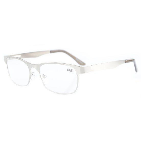 09105eb719a Shop Eyekepper Readers Metal Frame Spring Hinge Reading Glasses Silver  +0.75 - Free Shipping On Orders Over  45 - Overstock - 20518207
