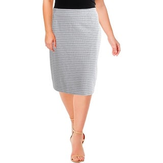 Kasper Womens Plus Pencil Skirt Jacquard Suit Separate
