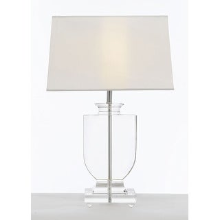 Crystal Urn Table Lamp with White Shade Modern Glass Contemporary Lamp