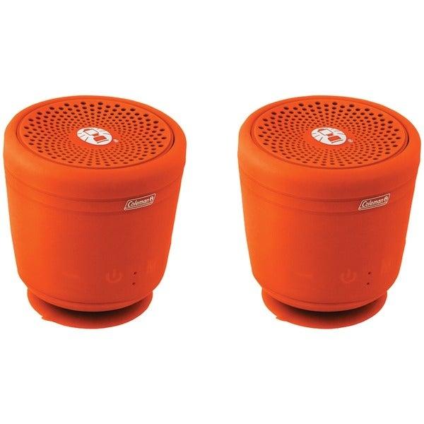 Coleman Cbt10Tws-O-2P Aktiv Sounds(Tm) Tws Waterproof Bluetooth(R) Speaker (Orange; 2 Pk)
