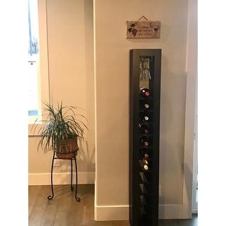 Furniture of America Gese Modern Metal 11 Slots Standing Wine Rack