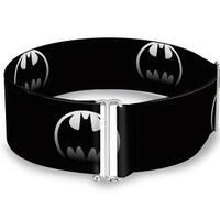 Bat Signal 4 Black Silver Fade One Size Cinch Waist Belt   ONE SIZE
