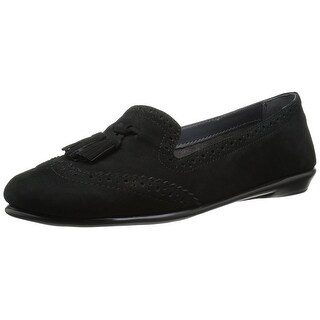 Aerosoles Womens Winning Bet Leather Closed Toe Slide Flats