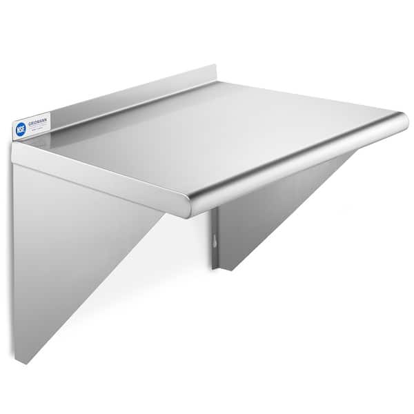 NSF 3-Sided Commercial Stainless Steel Wall Mount Shelf 18 x 24