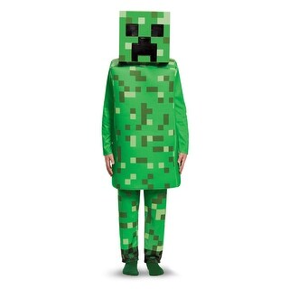 Kids Minecraft Creeper Deluxe Halloween Costume