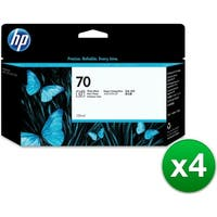 HP 70 130-ml Photo Black DesignJet Ink Cartridge (C9449A) (4-Pack)