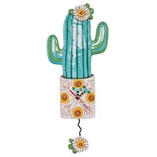 Allen Designs Desert Bloom Cactus Pendulum Wall Clock Battery Operated