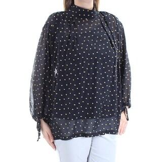 DKNY $299 Womens 1580 Navy Turtle Neck Long Sleeve Casual Top S B+B