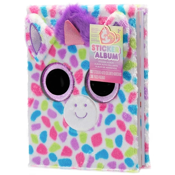 ae7ae094b5f Shop Darice TY Beanie Boo Unicorn Sticker Album - Free Shipping On Orders  Over  45 - Overstock - 18932855