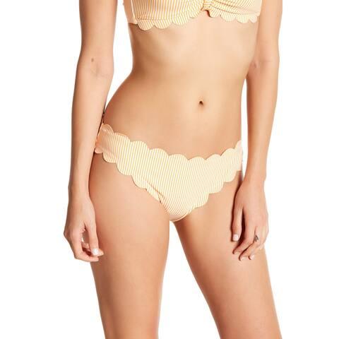 Jessica Simpson Orange Womens Size Large L Scallop Bikini Bottom