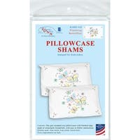 Stamped Pillowcase Shams 2/Pkg-Fluttering Butterflies