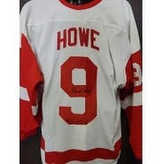 Signed Howe Gordie Detroit Red Wings Detroit Red Wings Authentic Jersey Size 54 autographed