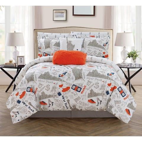 Chic Home Ellis 9 Piece Reversible New York Inspired Comforter Set