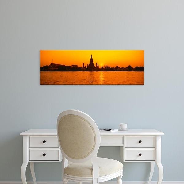 Easy Art Prints Panoramic Images's 'Thailand, Bangkok, Wat Arun' Premium Canvas Art