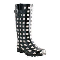 Nomad Women's Two Classic Rain Boot Black/White Gingham