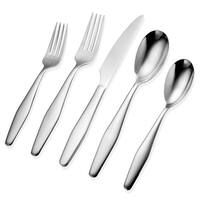 Hampton Forge Signature Corelle Eloise Sand 20 Piece Flatware Kitchen Serveware Set