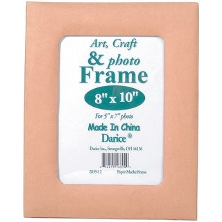 "Paper-Mache Frame 8""X10""-5""X7"" Photo Opening W/Easel Back"