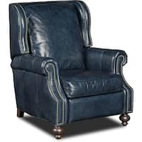 """Hooker Furniture RC140-048 34"""" Wide Leather Recliner from the Drake Collection - balmoral blue"""