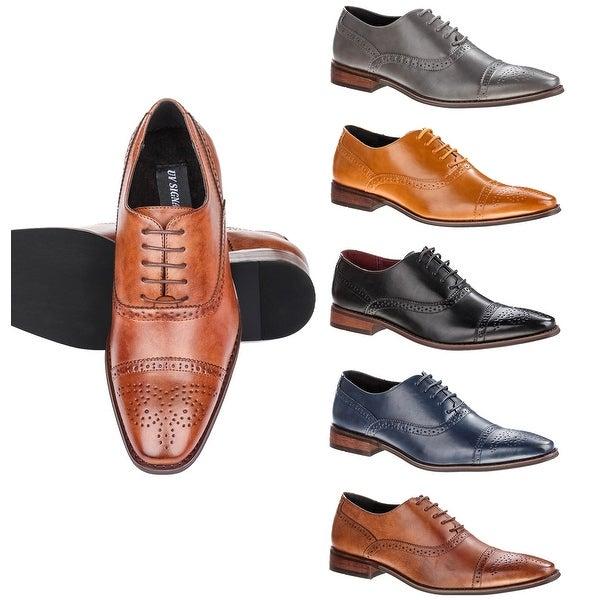UV Signature Men's Brogue Cap Toe Dress Shoes. Opens flyout.