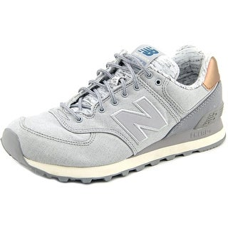 New Balance WL574 Round Toe Canvas Sneakers