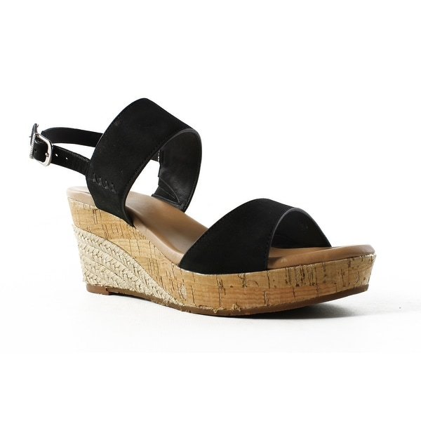 3c5a7126bd7 Shop UGG Womens Elena Black Ankle Strap Sandals Size 8 - Free ...