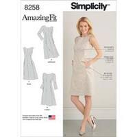 20W-28W - Simplicity Misses / Plus Size Dress 8258