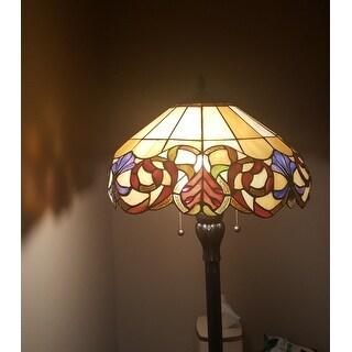 Quoizel Blossom Tiffany-style Imperial Bronze Finish 2-light Floor Lamp