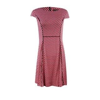 Jessica Howard Women's Printed Petite A-Line Casual Wear Dress
