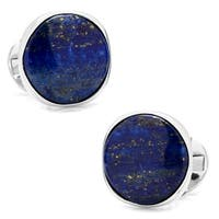 Sterling Silver Classic Formal Lapis Cufflinks