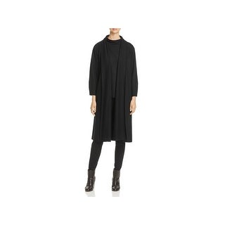 Eileen Fisher Womens Duster Sweater Shawl Collar Open-Front - S