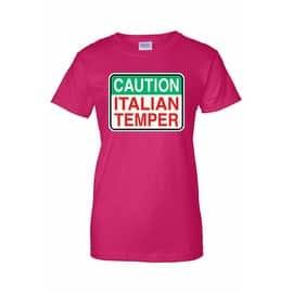 Women's Juniors T-Shirt Caution Italian Temper Humor Italy Italian Pride|https://ak1.ostkcdn.com/images/products/is/images/direct/ddfc77d010081bfb3712201169026740699123de/Women%27s-Juniors-T-Shirt-Caution-Italian-Temper-Humor-Italy-Italian-Pride.jpg?impolicy=medium