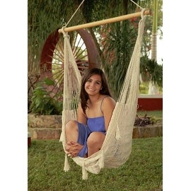 Sunnydaze Mayan Hammock Chair with Wood Spreader Bar