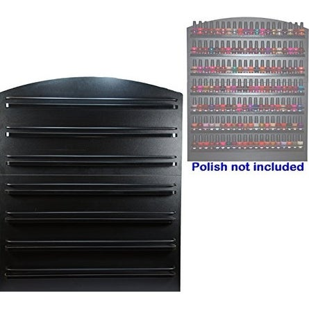 LCL Beauty 7 Tier Black Wall Mount Nail Polish Rack Display Organizer Shelf
