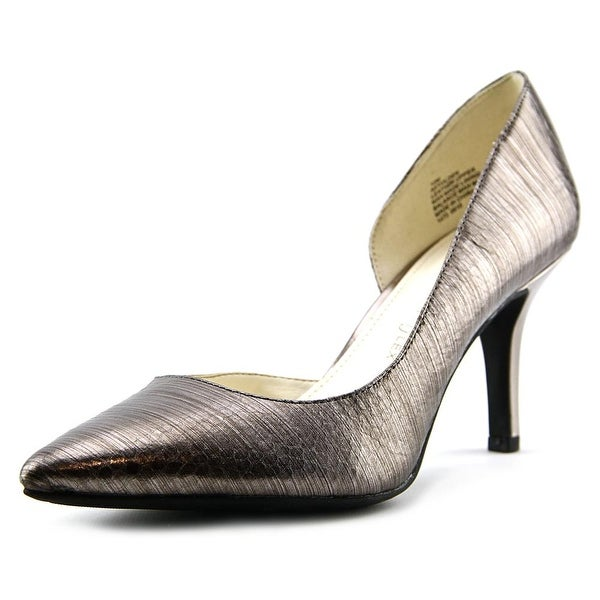 Anne Klein Yolden Women  Pointed Toe Leather Gray Heels