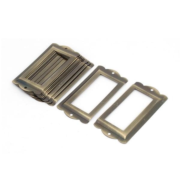 Whitelotous 10pcs Stainless Drawer Label Pull Cabinet Frame Handle File Name Card Holder