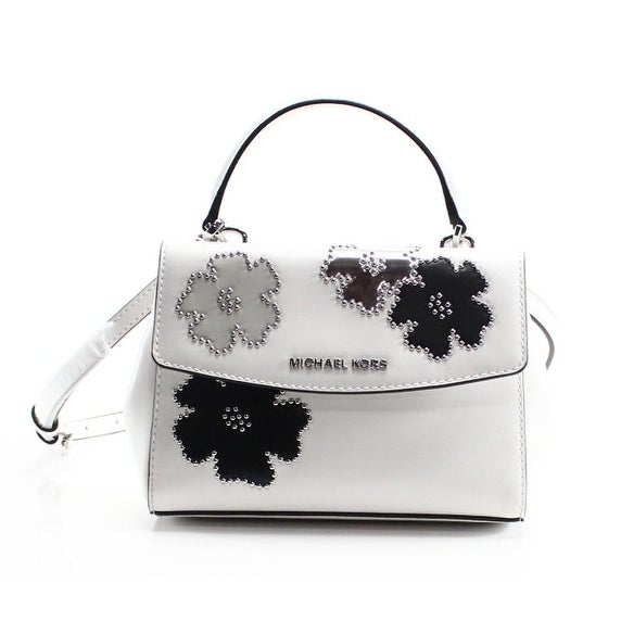 c90d3ef20a0a Shop Michael Kors NEW White Micro Studded Floral Ava Mini Crossbody ...