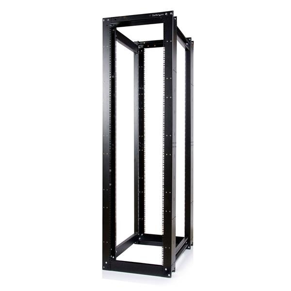 Startech 4Postrackhd 45U 3300Lb High Capacity 4 Post Open Server Equipment Rack - Flat Pack